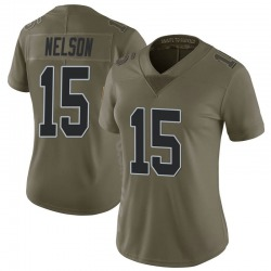 Nike J.J. Nelson Oakland Raiders Women's Limited Green 2017 Salute to Service Jersey