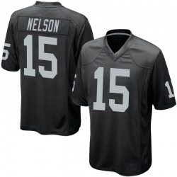 Nike J.J. Nelson Oakland Raiders Youth Game Black Team Color Jersey