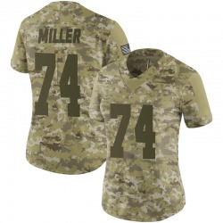 Nike Kolton Miller Oakland Raiders Women's Limited Camo 2018 Salute to Service Jersey
